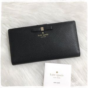 NEW! Kate Spade Cooke Hill Bow Stacy Wallet